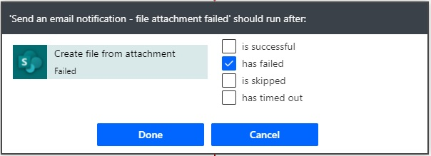 run after file creation failure notification