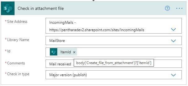 Check in attachment file