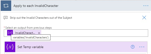 invalid character flow