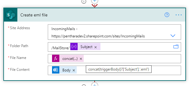 create email action flow